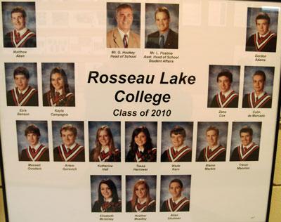 Rosseau Lake College Class of 2010