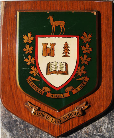 Rosseau Lake School Plaque