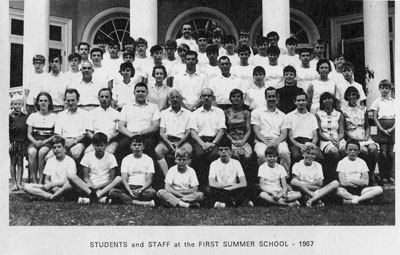 STUDENTS and STAFF at the FIRST SUMMER SCHOOL - 1967