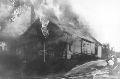L'incendie de la Fromagerie d'Alphonse Bourbonnais sur la rue Sainte-Marie (Embrun).