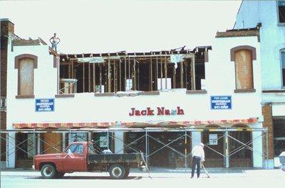 Demolition of Jack Nash, 300 St. Paul Street