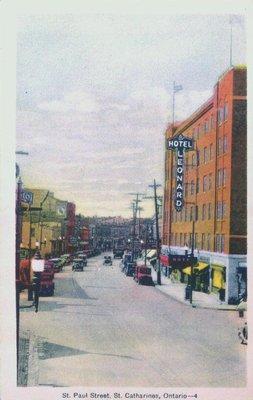 St. Paul Street at the corner of Carlisle Street.