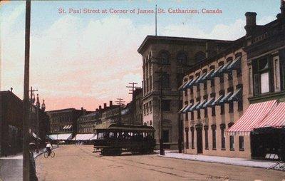 St. Paul Street at the corner of James Street