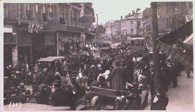 A victory celebration on St. Paul Street