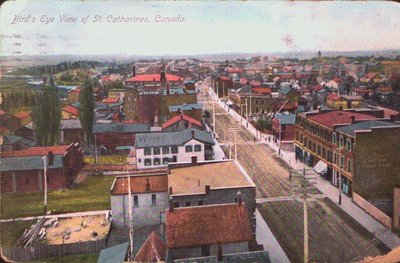 A Bird's eye view of St. Catharines, Canada.