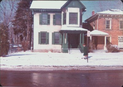 The Voisard home at the corner of Church and Wellington Streets.