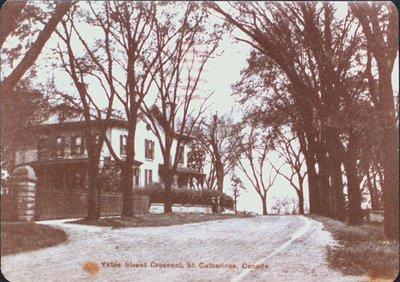 """""""Oak Hill"""" Home of William Hamilton Merritt, 12 Yates Street."""