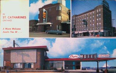 The Queensway Hotel, The Hotel Leonard and the Capri Motel