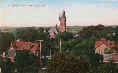An Aerial View of St. Catharines showing St. Thomas Church Steeple