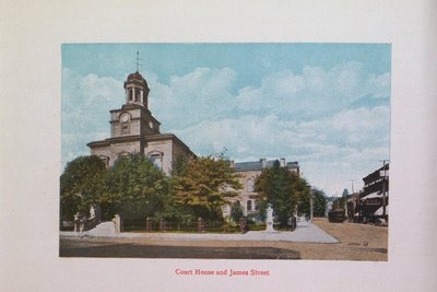 Souvenir of St. Catharines: Court House and James Street