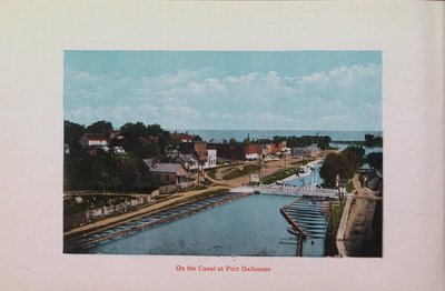 Souvenir of St. Catharines: Canal at Port Dalhousie