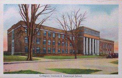 Souvenir view of St. Catharines & Port Dalhousie: Collegiate Institute and Vocational School
