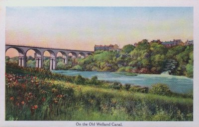 Souvenir view of St. Catharines & Port Dalhousie: The Old Welland Canal