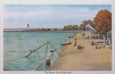 Souvenir view of St. Catharines & Port Dalhousie: The Beach at Port Dalhousie