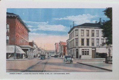 Souvenir Folder of St. Catharines: James Street Looking South From King