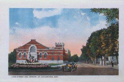 Souvenir Folder of St. Catharines: Lake Street & The Armoury