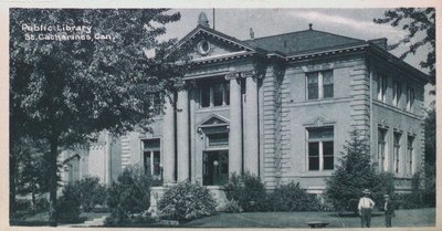Souvenir of St. Catharines Postcards: The Public Library