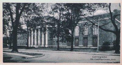Souvenir of St. Catharines Postcards: Collegiate School