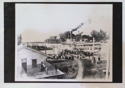 Steamer Garden City at Port Dalhousie Dock
