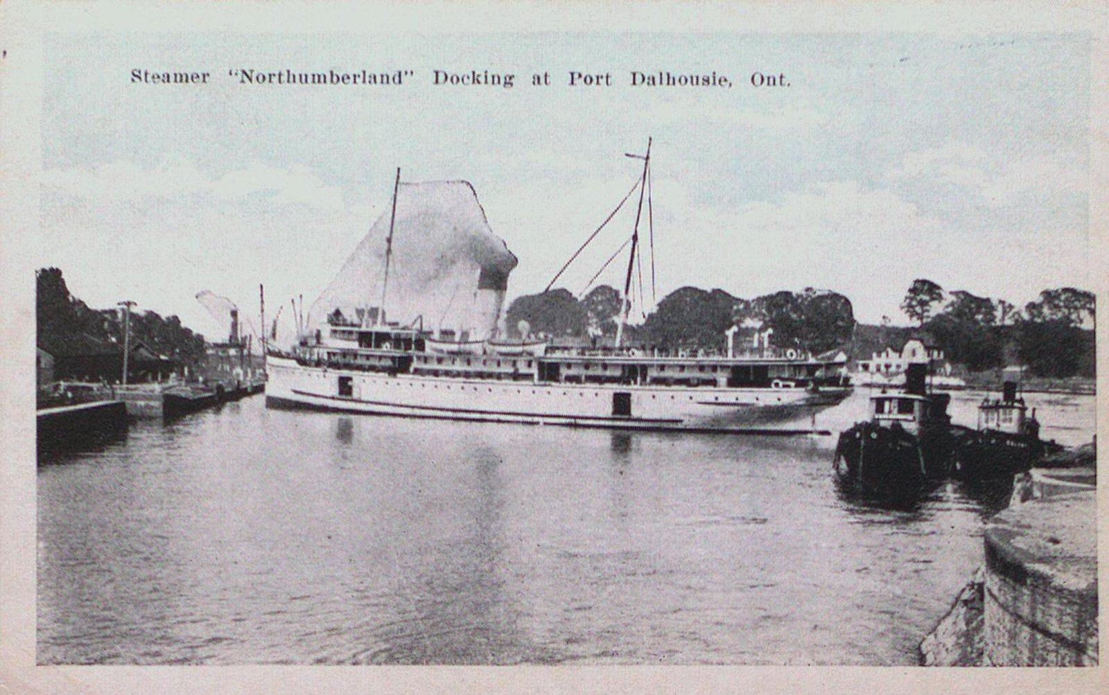 Steamer Northumberland Docking at Port Dalhousie