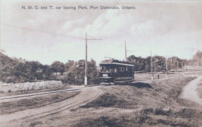 N.St. C. and T. Car Leaving Lakeside Park