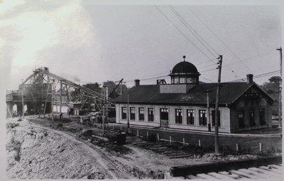 Transfer Station Along Railway Tracks in Thorold