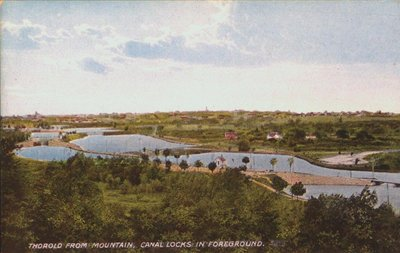 Thorold from the Mountain with the Welland Canal