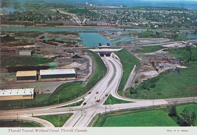 Thorold Tunnel and the Welland Canal