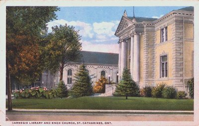 The Public (Carnegie) Library and Knox Church