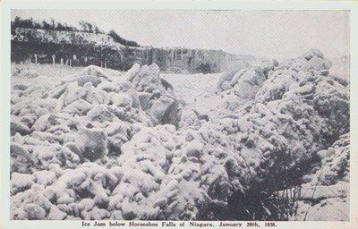 Ice Jam below the Horseshoe Falls, Niagara Falls