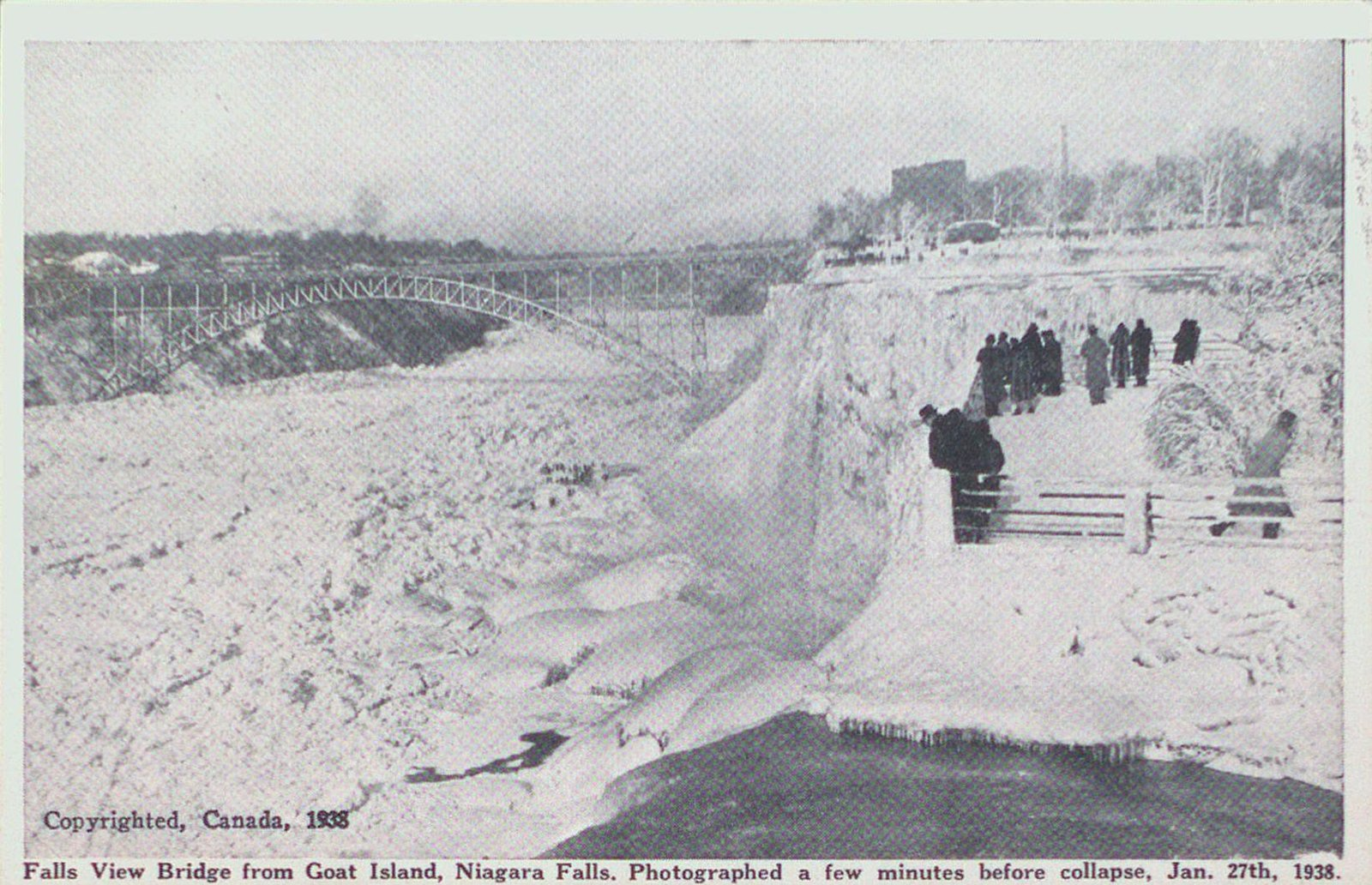 Falls View Bridge Just Before Collapse, Niagara Falls