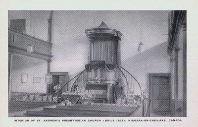 The Interior of St. Andrew's Presbyterian Church, Niagara-on-the-Lake