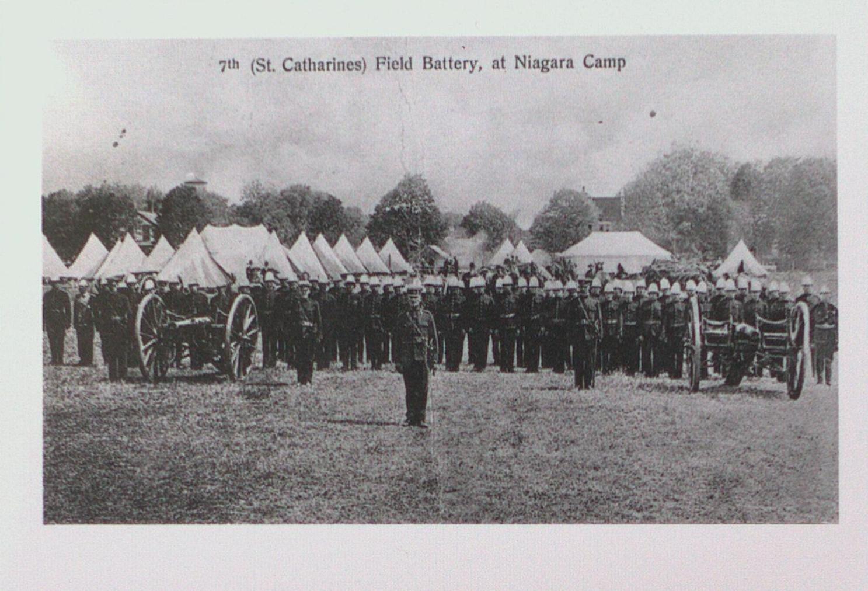7th (St. Catharines) Field Battery at Niagara Camp