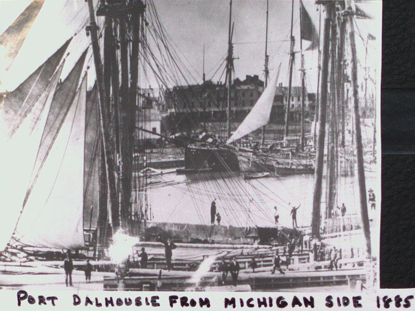 Port Dalhousie Harbour from the Michigan Side
