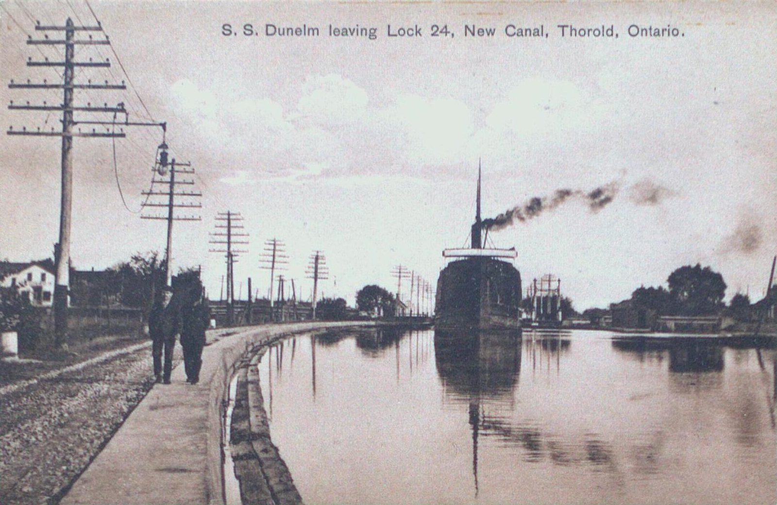 S.S. Dunelem on the New Canal in Thorold