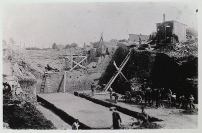 Laying the Bed of the Third Canal