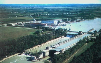 A Bird's Eye View of Lock One on the Welland Ship Canal