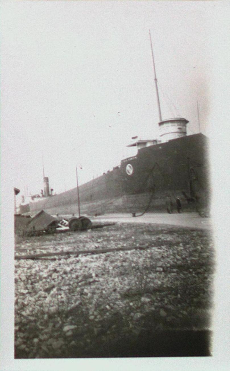 A Ship Along the Welland Ship Canal