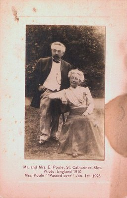 A Portrait of Mr. and Mrs. E. Poole