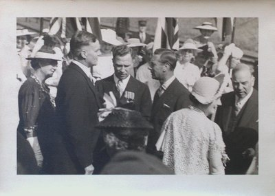 Royal Visitors King George VI and Queen Elizabeth at St. Catharines Train Station