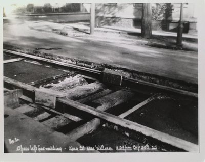 Railway Construction at King Street Near William Street