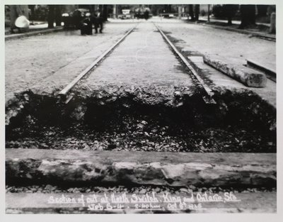 Railway Construction at King and Ontario Streets