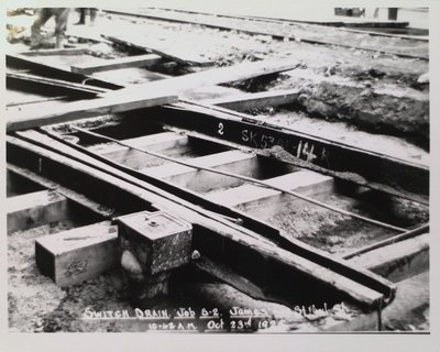 Railway Construction at James and St. Paul Streets
