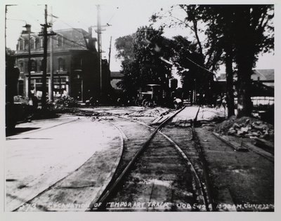 Railway Construction at Welland Avenue and Geneva Street