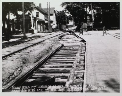 Railway Construction at Louisa and Catherine Streets