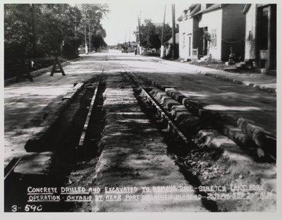Railway Construction at Ontario Street Near Port Dalhousie Diamond
