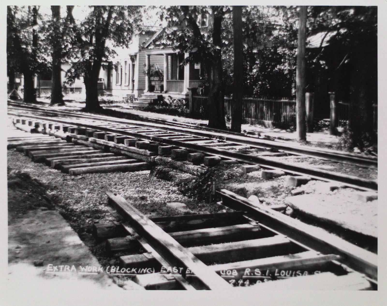 Railway Construction at Louisa Street