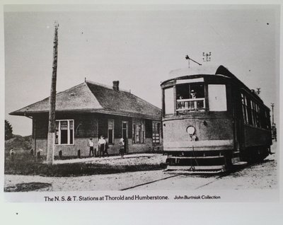 N.S. & T. Station at Humberstone (Port Colborne)