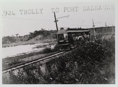 An NS&T Trolley Car Traveling to Port Dalhousie
