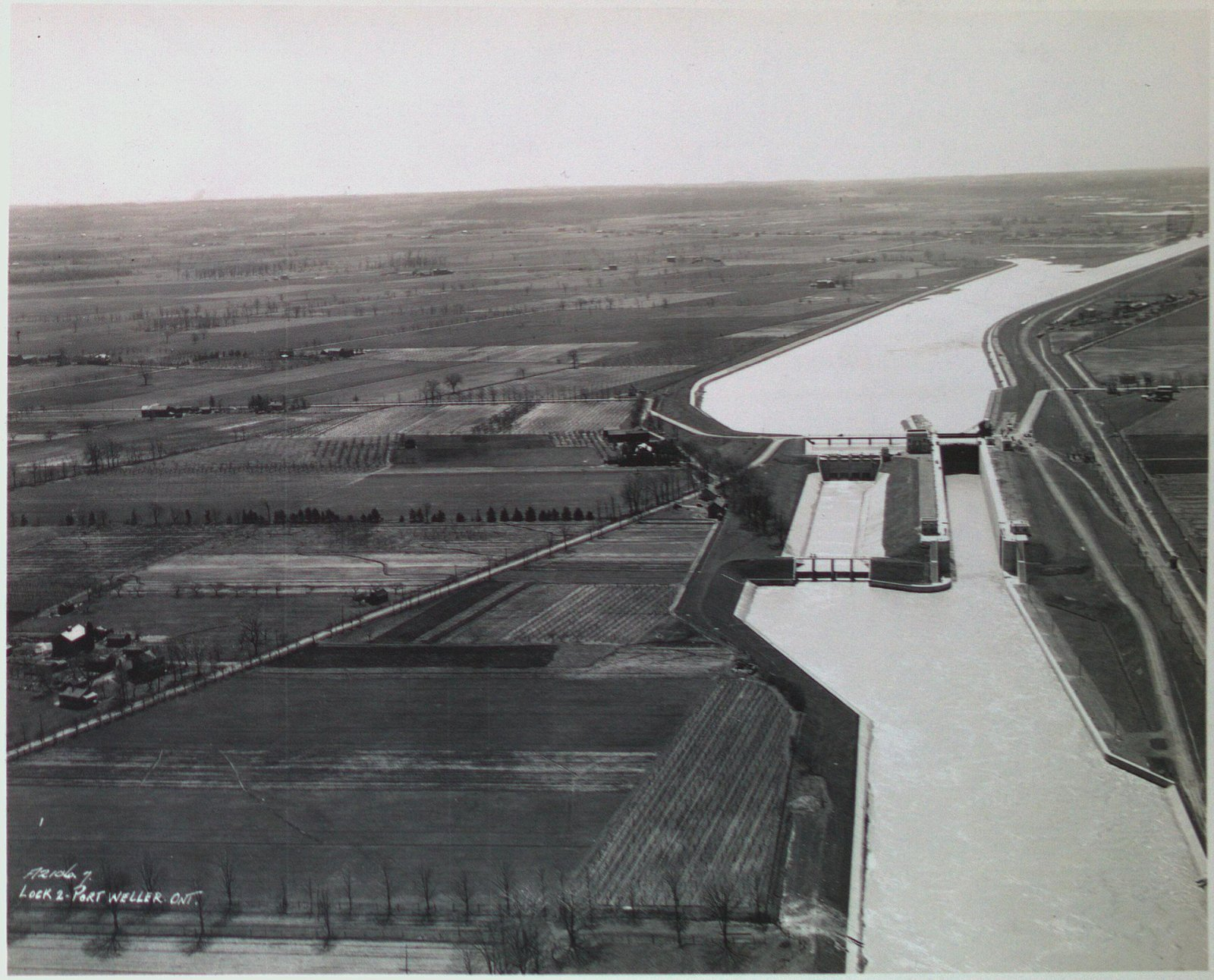 Lock 2 on the Welland Ship Canal Looking South